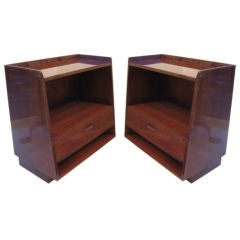 A Pair of Slant Front Dunbar Nightstands by Edward Wormley