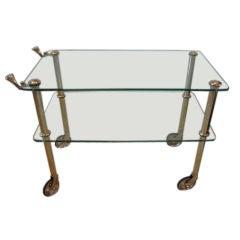 Brass Serving Cart by Osvaldo Borsani