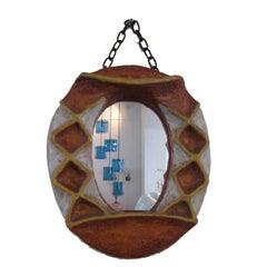 A Ceramic Mirror by Isabelle Ferlay Vallauris