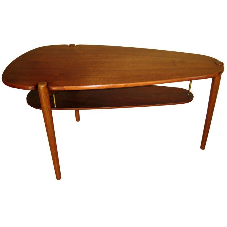Danish modern teak coffee table at 1stdibs Modern teak coffee table