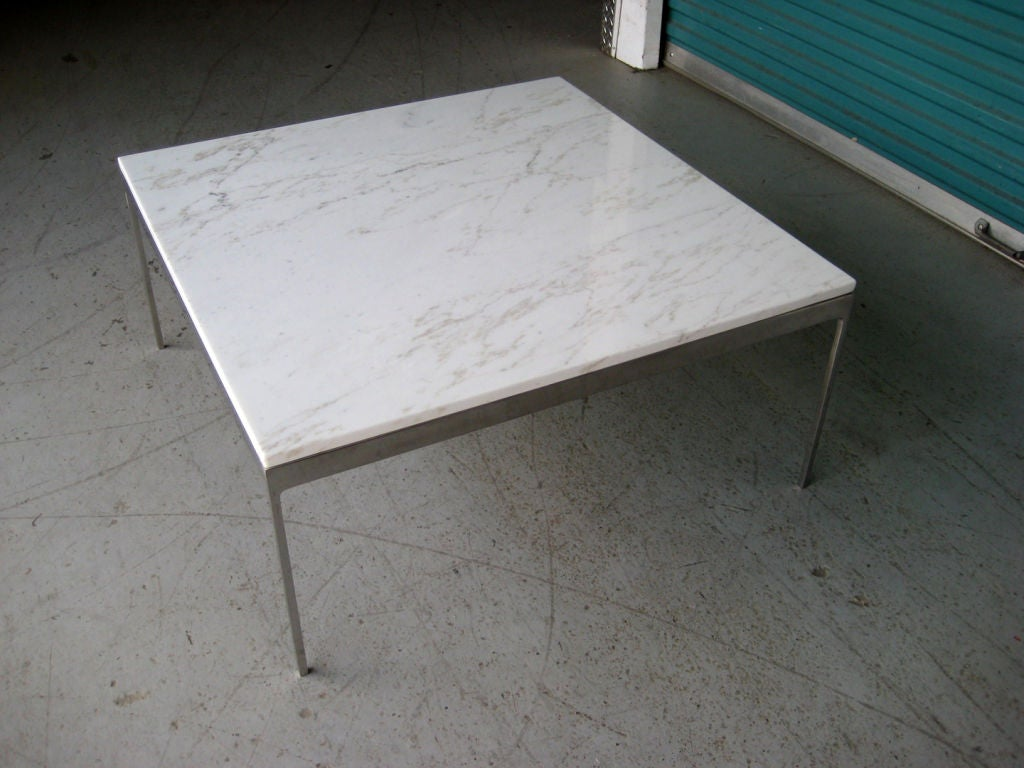 White Marble Coffee Table By Nicos Zographos At 1stdibs