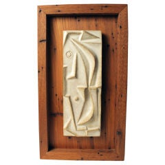 Shadow Box Mounted Tile Relief by Lee Rosen for Design Technics
