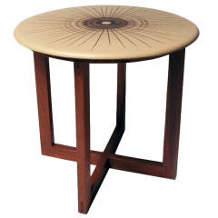 Ceramic Discus Topped Occasional Table by Design Technics