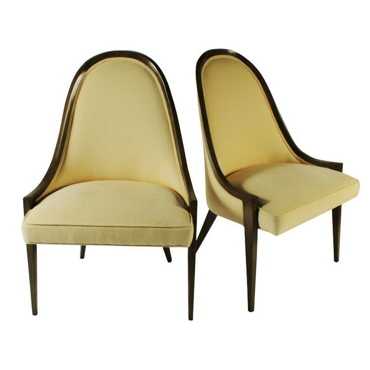 Pair Of Gondola Pull Up Chairs By Harvey Probber For Sale