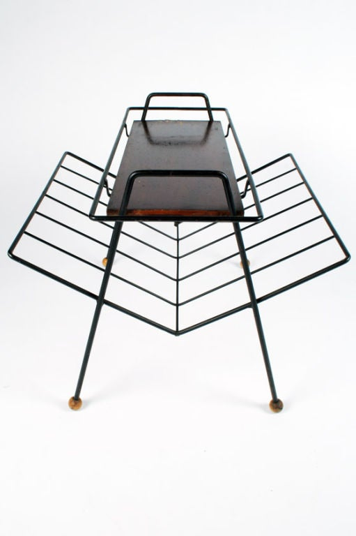 American Magazine Rack Tray Table by Tony Paul For Sale