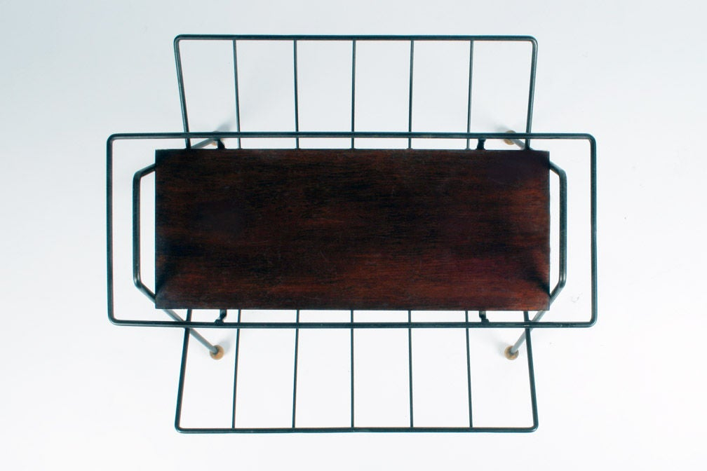 Magazine Rack Tray Table by Tony Paul In Excellent Condition For Sale In New York, NY