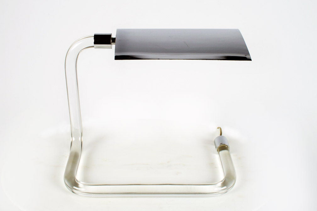 'Crylicord' Lucite Rod Desk Lamp by Peter Hamburger 2