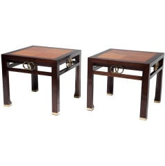 Pair of Far East Occasional Tables by Michael Taylor for Baker