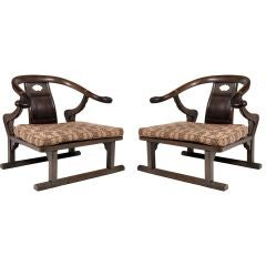 Pair Far East Side Chairs by Michael Taylor for Baker Furniture