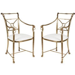Pair of Superb Regency Armchairs by La Barge