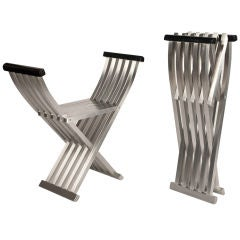 Pair of Classic Aluminum Folding Benches by John Vesey