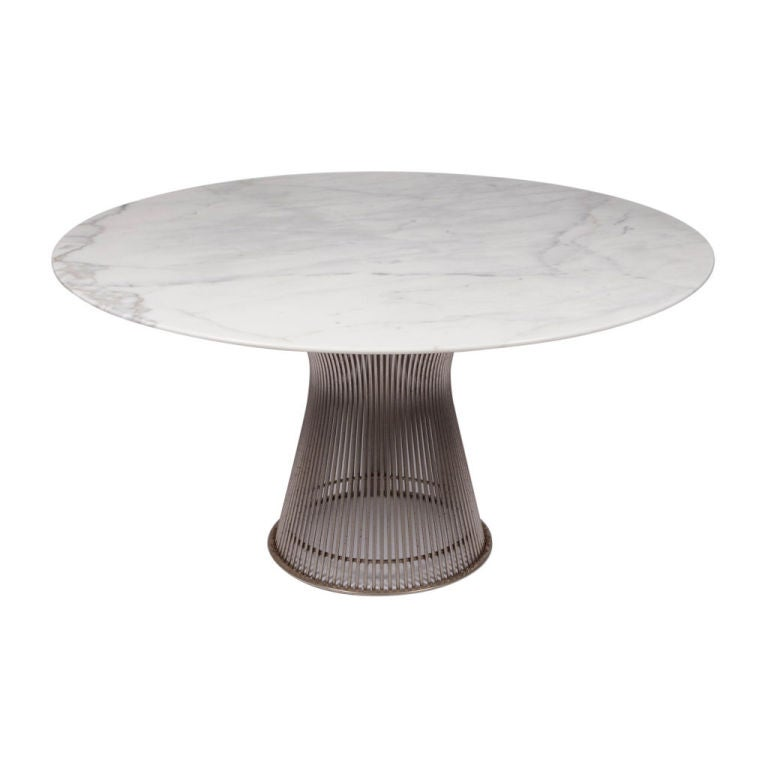 Carrera Marble Topped Dining Table By Warren Platner At 1stdibs