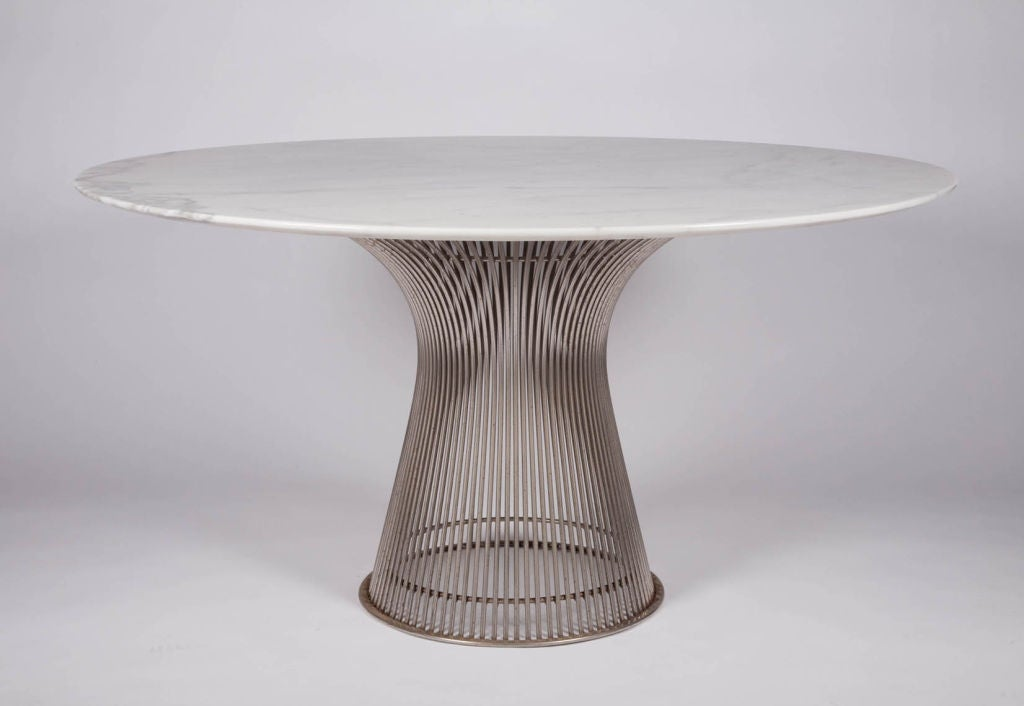 Carrera marble topped dining table by warren platner at for Table carrera