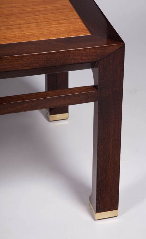 Walnut Far East Cocktail Table by Michael Taylor for Baker For Sale
