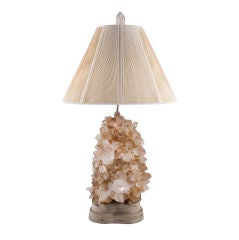 Stunning Magical Crystal Rock Table Lamp by Carole Stupell