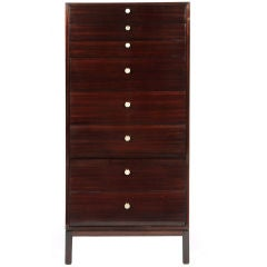 Eight-drawer Jewelry Lingerie Mahogany Cabinet by Harvey Probber