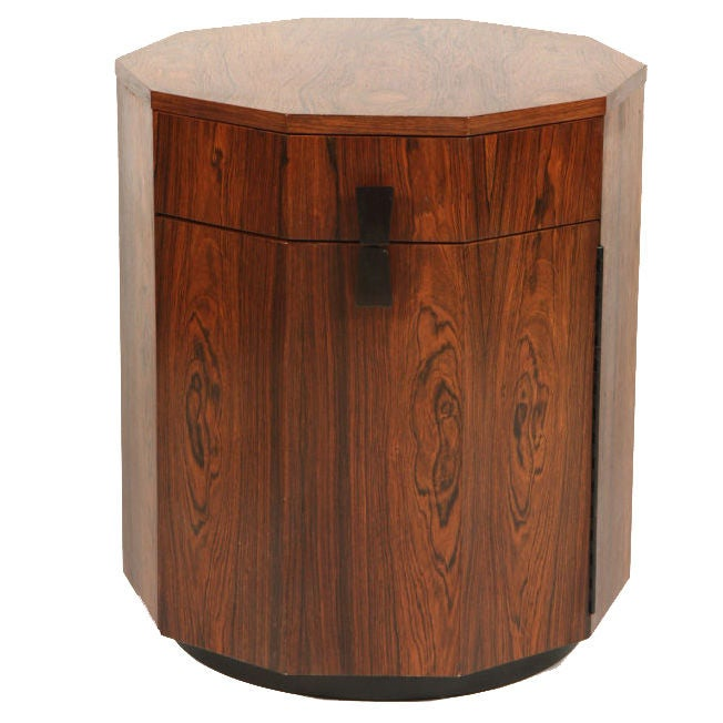 Rosewood Decagon Dry Bar by Harvey Probber