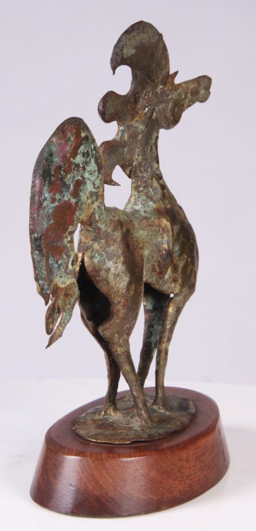 Whimsical Bronze Horse Sculpture by Bill Lett In Excellent Condition For Sale In New York, NY