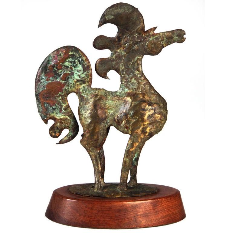 Whimsical Bronze Horse Sculpture by Bill Lett