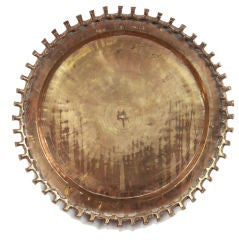 Bronze Crenelated Charger