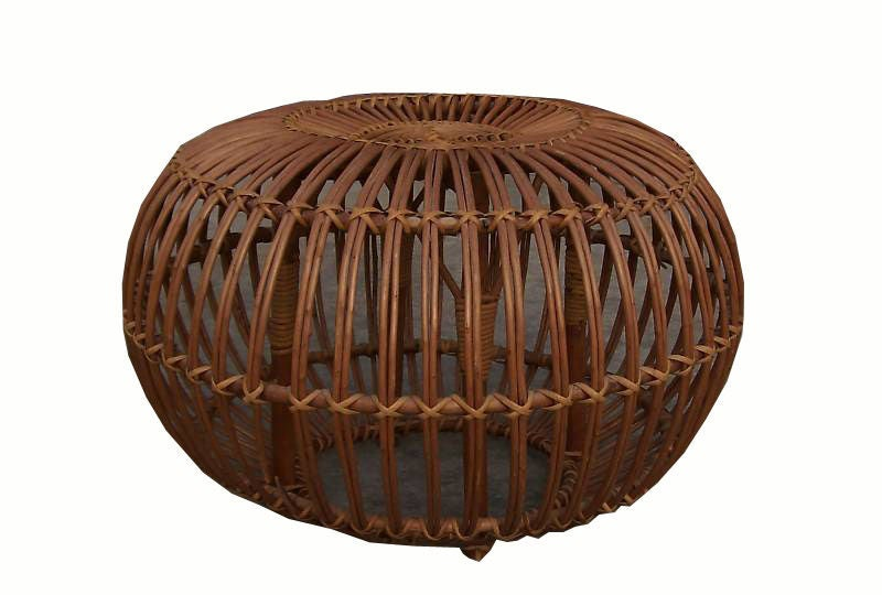 Franco Albini Rattan Ottoman Coffee Table At 1stdibs