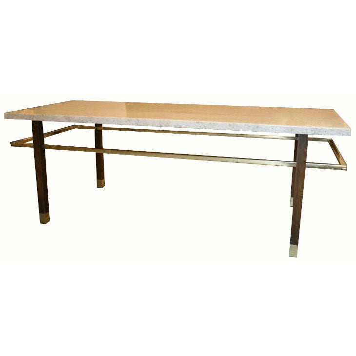 Harvey Probber Travertine Top Coffee Table At 1stdibs