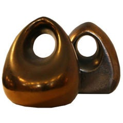 "Ben Seibel For Jenfredware "" Orb "" Copper Bookend"