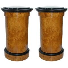 Remarable Pair of Swedish Biedermeier End Tables/Side