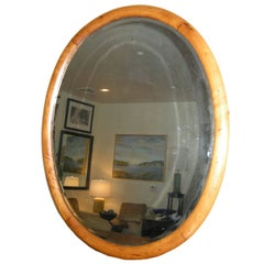 American Antique Oval Shaped Bevelled  Glass Mirror