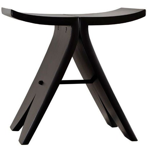 David N. Ebner, Studio Craft Artist, Black Stool #1 For Sale
