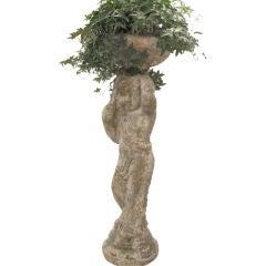Tall Terracotta Cherub Plant Stand