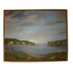 Bay Village, Long Island N.Y. Oil on Canvas,  Artist,  Valta Us