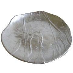 Beautiful Studio Pottery Silver & Ceramic Platter