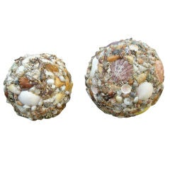 Two Large Shell Sphere's  ( Montauk Long Island ) 1950s