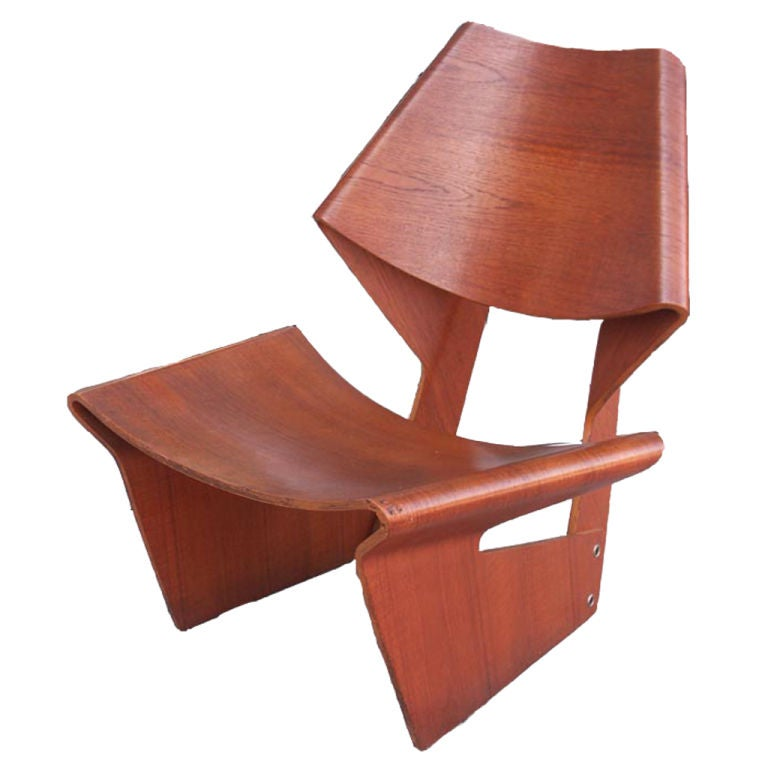 rare grete jalk laminated chair in teak at 1stdibs laminate chair rail laminated chart