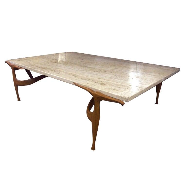 Very Rare Dan Johnson Gazelle Coffee Table At 1stdibs