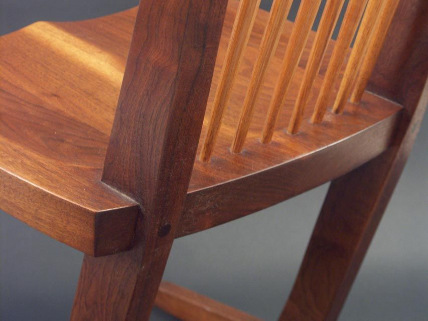 Pair Of George Nakashima Conoid Chairs At 1stdibs