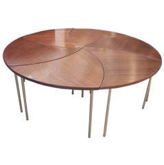 Complete Group of Six Peter Hvidt Interlocking Occasional Tables