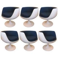 Pair of Eero Aarnio Swivel Lounge Chairs