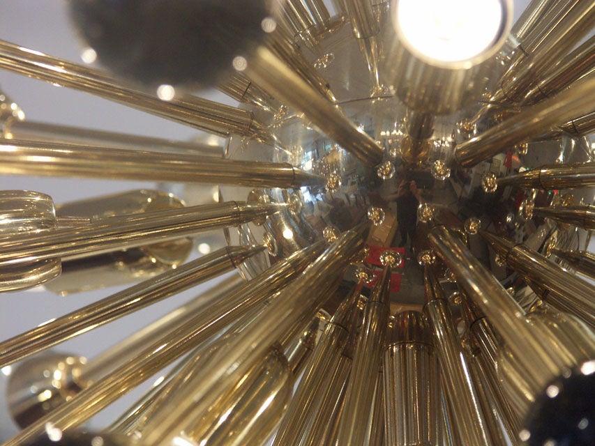 Gorgeous Italian Brass Sputnik Chandelier 4