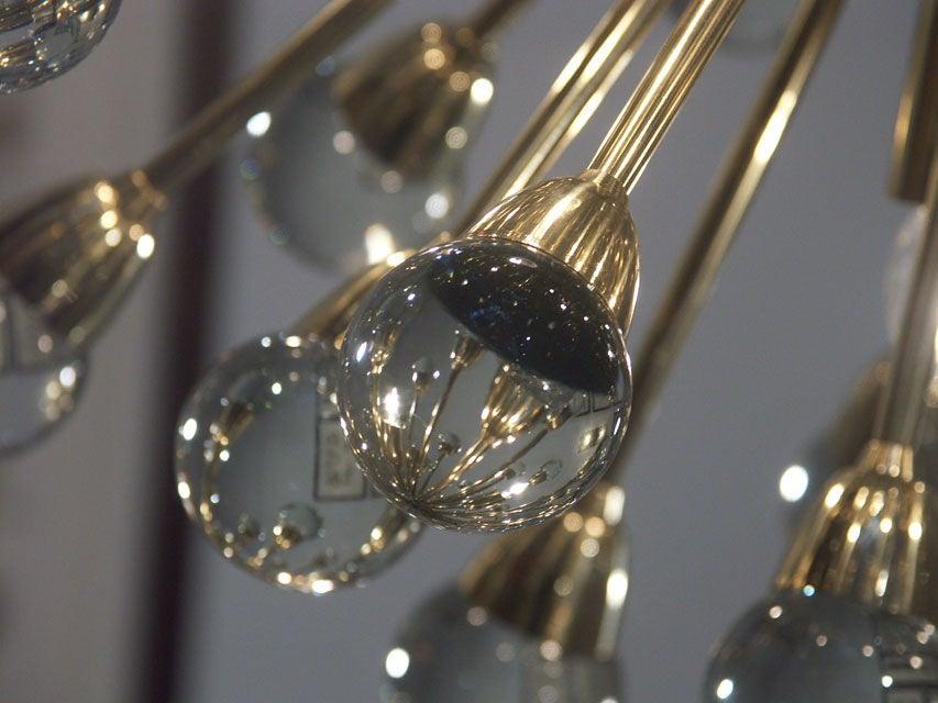 Gorgeous Italian Brass Sputnik Chandelier 5