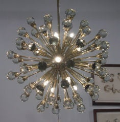Gorgeous Italian Brass Sputnik Chandelier image 2