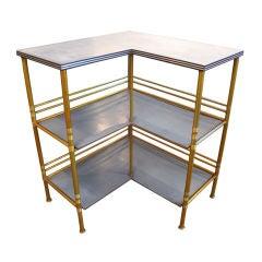 Corner Etagere in Rare Gold Anodized Color