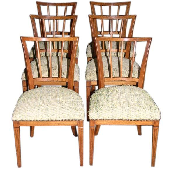 Set of six dining chairs walnut ca 1825 at 1stdibs for Furniture 1825