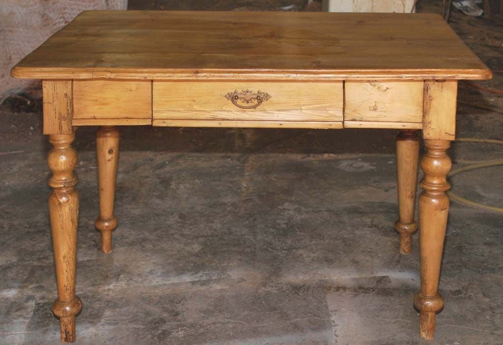 19th Century Small Continental Country Table or Desk