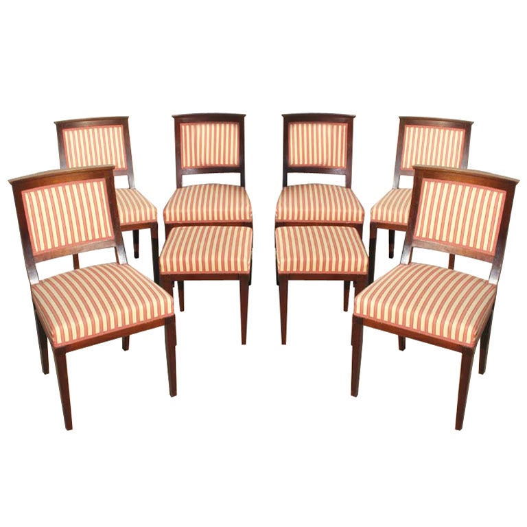 Six Neoclassical Style Mahogany Chairs With Two Matching