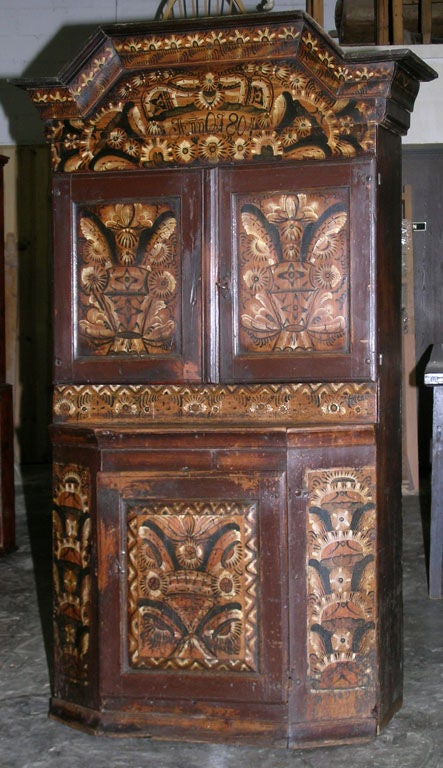 Swedish Buffet Painted, 1804 For Sale 4