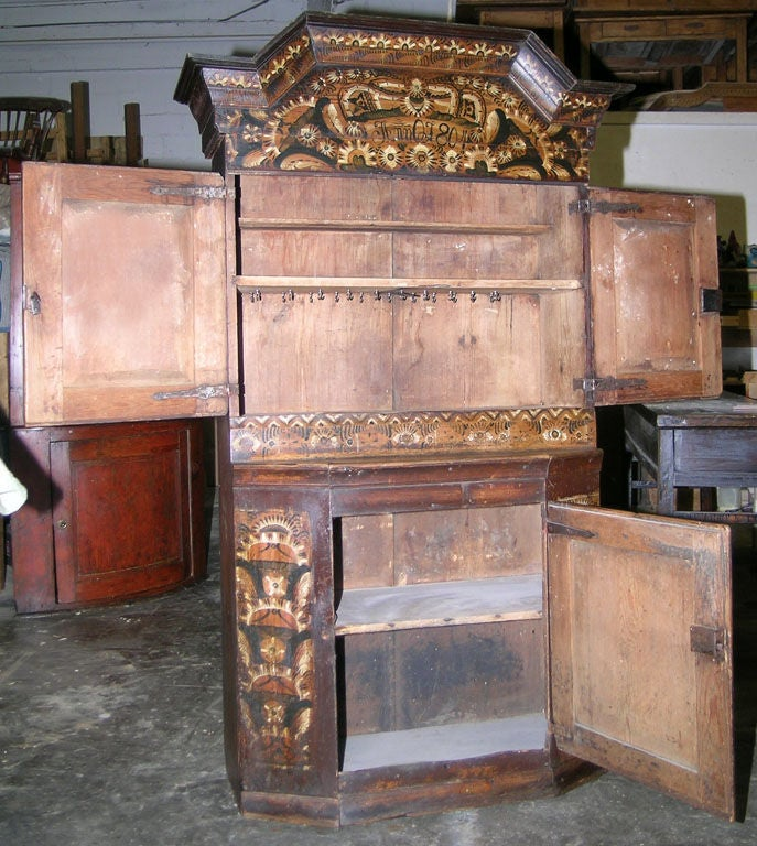 Swedish Buffet Painted, 1804 For Sale 1