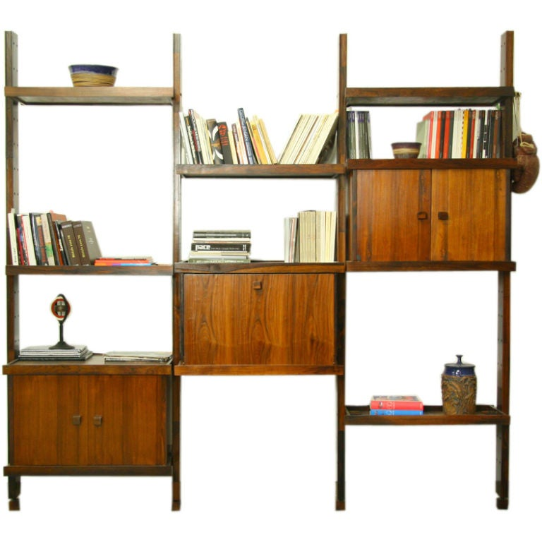 Rosewood shelving unit by Sergio Rodrigues