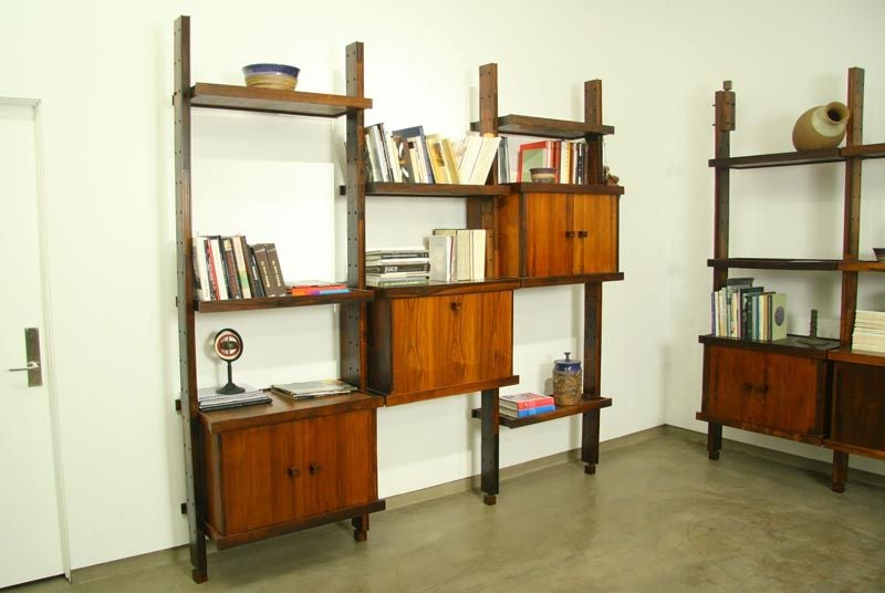 Rosewood shelving unit by Sergio Rodrigues image 3